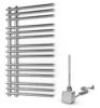Grzejnik łazienkowy elektryczny Warmtec Brillo 50 x 90 chrom